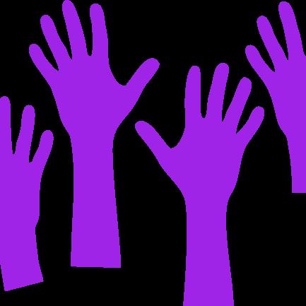 purple-hands